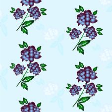 Free Seamless Floral Background. Repeat Many Times. Royalty Free Stock Image - 17667106