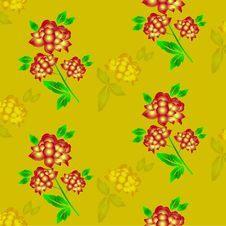 Free Seamless Floral Background. Repeat Many Times. Stock Images - 17667114