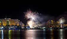Free Festive Fireworks In Eilat City, Israel Stock Photography - 17667892