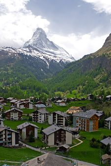 Free Village At The Foothill Of Matterhorn Stock Photography - 17668462