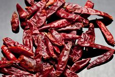 Free Dried Red Chili Peppers Royalty Free Stock Photos - 17668548
