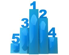 Free Blue Glossy Chart With Some Numbers Stock Photography - 17668632