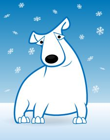 Free Polar Bear And Snowfall Stock Images - 17668854