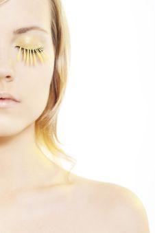Free Woman Wearing Petal Eyelashes Stock Images - 17668974