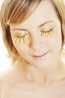 Free Woman Wearing Petal Eyelashes Royalty Free Stock Images - 17668989