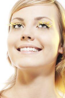 Free Woman Wearing Petal Eyelashes Royalty Free Stock Photography - 17669007