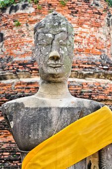 Ruin Image Of Buddha Stock Photos