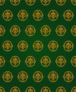 Free Green And Gold Vintage Pattern Stock Photo - 17670790