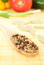 Free Spices Mixed Over The Spoon Royalty Free Stock Image - 17675716