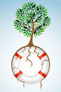 Free Tree With Lifebuoy Stock Images - 17678104