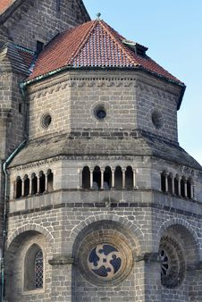 Free Gothic Basilica Saint Procopius In Trebic,UNESCO S Royalty Free Stock Photos - 17670208