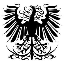 Silhouette Of Heraldic Eagle Stock Images