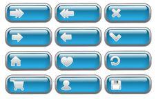 Shiny Internet  Buttons Set Stock Photo