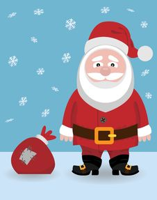 Free Santa Claus With A Bag Royalty Free Stock Photo - 17670605