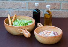 Free Shrimp And Salad Royalty Free Stock Photos - 17670628