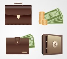 Free Finance Icon Set Stock Photos - 17670943