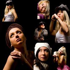 Free Woman Collage Royalty Free Stock Photos - 17671278