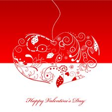 Free St. Valintine Greeting Card Stock Images - 17671584