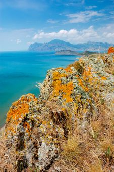 Summer Landscape With The Sea And Mountains Stock Photo