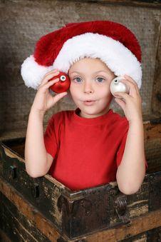 Free Playful Christmas Boy Royalty Free Stock Photo - 17672285