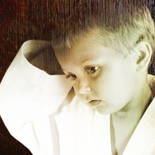 Karate Boy Royalty Free Stock Image