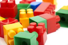 Free Color Building Blocks Royalty Free Stock Images - 17672339