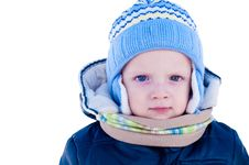 Free Portrait Of A Child In Winter Stock Photos - 17672663