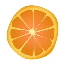 Free Orange Slice Royalty Free Stock Image - 17672686