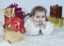 Free Girl With Gifts Royalty Free Stock Image - 17672836