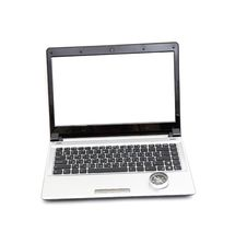 Free Compass On The Laptop Keyboard Royalty Free Stock Photos - 17673098
