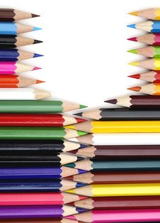 Free Color Pencils In Arrange In Color Royalty Free Stock Image - 17673286