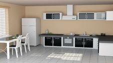 Free White Modern Kitchen Stock Photography - 17673872