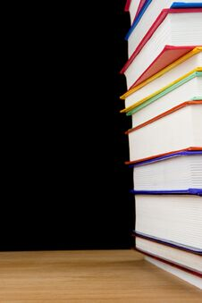 Free Pile Of Books Isolated On Black Stock Photography - 17674302