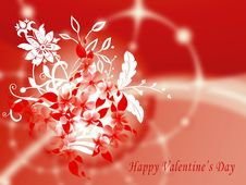 Valentine S Greeting Card With Flowers Stock Image