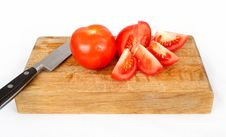 Free Tomatoes On Cutting Board Royalty Free Stock Image - 17674656