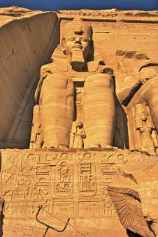 The Great Temple Of Abu Simbel (Nubia, Egypt) Royalty Free Stock Image
