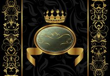 Ornate Background With Crown Stock Images