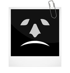 Free Photoframe With Malicious Smile Royalty Free Stock Photography - 17675097