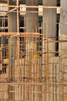 Free Scaffold In Big Construction Stock Photography - 17675172