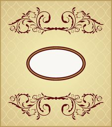 Illustration The Floral Vintage Frame Royalty Free Stock Photo