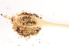 Free Spices Mixed Over The Spoon Royalty Free Stock Photos - 17675528