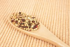 Free Spices Mixed Over The Spoon Royalty Free Stock Image - 17675596