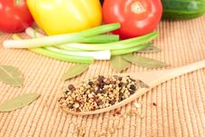 Free Spices Mixed Over The Spoon Royalty Free Stock Images - 17675679