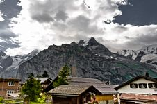 Free Murren And The Bernese Alps Royalty Free Stock Image - 17675706