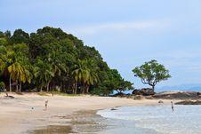 Resort Near The Beach On A Tropical Island Stock Photo