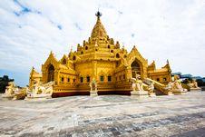 Free Swe Taw Myat, Buddha Tooth Relic Pagoda Royalty Free Stock Image - 17676736