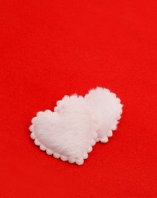 Free Two Fluffy Hearts Stock Image - 17676781