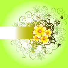 Green Floral Background Stock Image