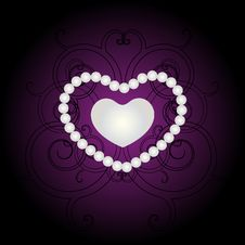 Heart Of Pearl Design. Royalty Free Stock Photography