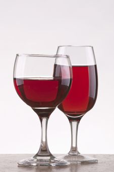 Free Two Different Glass Of Rose Wine Stock Photo - 17677340